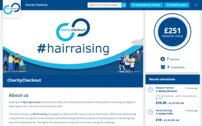 CharityCheckout supports charities during #givingtuesdaynow with #hairraising campaign