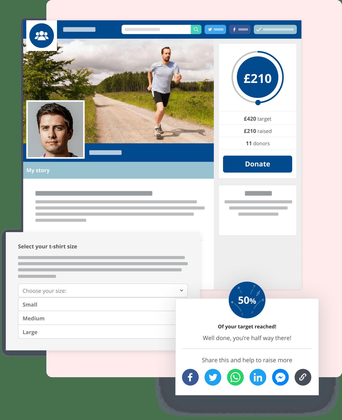 Screenshot of Enthuse community fundraising tools