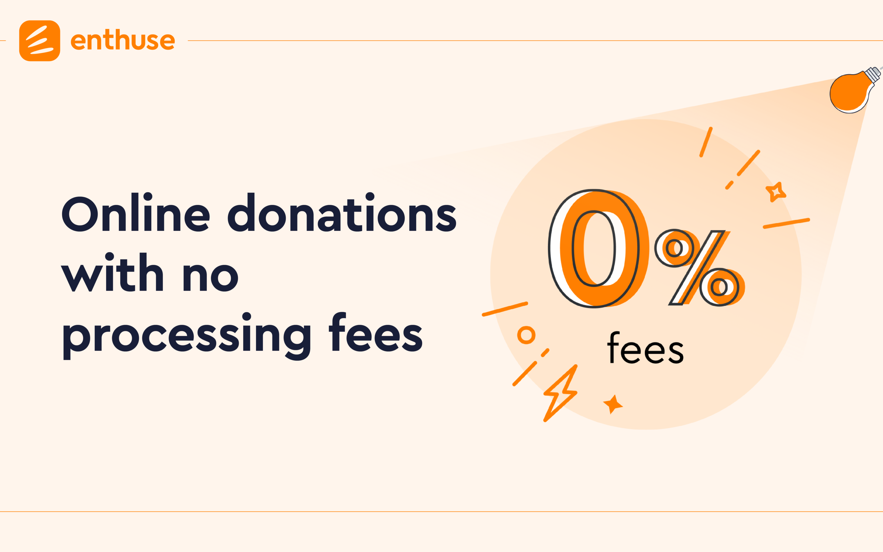 Enthuse launches online donations with no processing fees